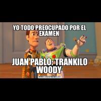 YO TODO PREOCUPADO POR EL EXAMEN JUAN PABLO: TRANKILO WOODY