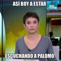 ASÍ BOY A ESTAR ESCUCHANDO A PALOMO