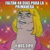 FALTAN 48 DÍAS PARA LA PRIMAVERAY VOS TIPO